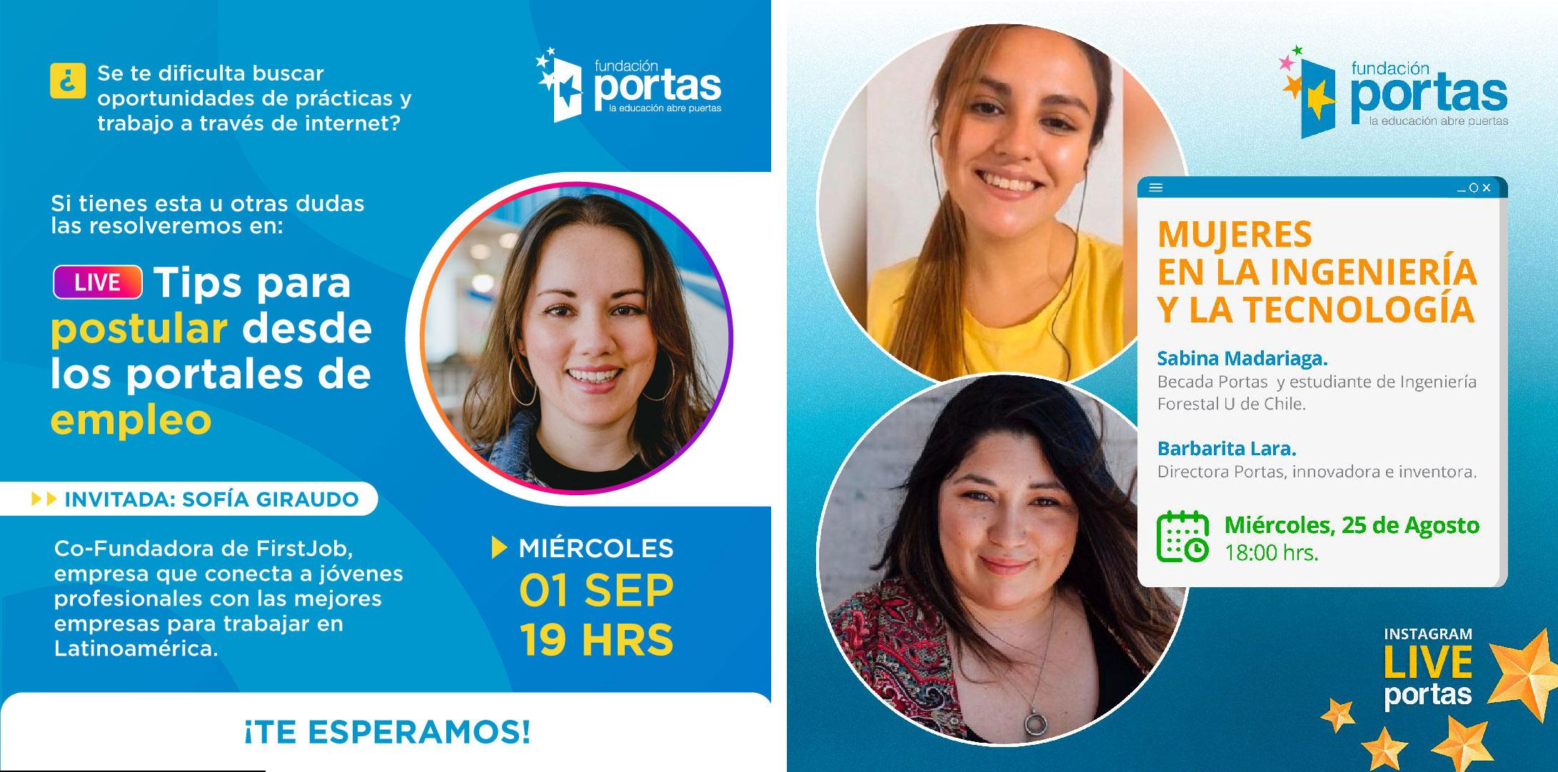 Mujeres en STEMs y buscar trabajo online: Lives de Portas